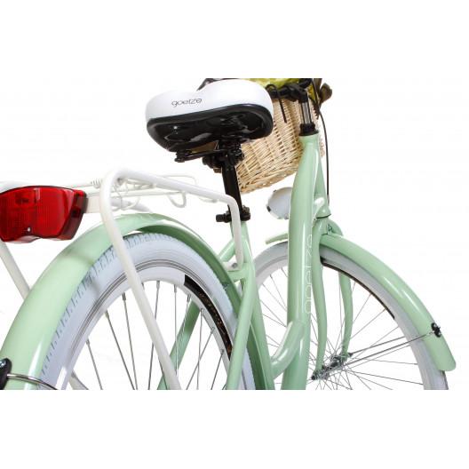 "Retro Bicykel GOETZE COLOURS 28"" Mentolový 3 Prevody+košík grátis"