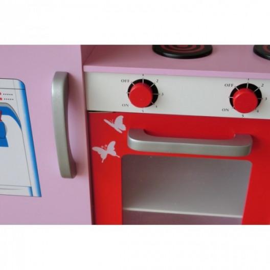 Wooden Toys Detská drevená kuchynka Paris Ružová
