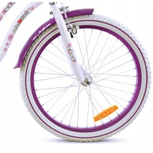 """Detský bicykel SISI 20"""" Mexller bielo-fialový"""