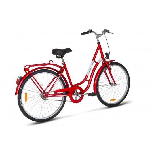 """Mestský Bicykel KANDS LAGUNA 26"""" Jednoprevodový Červený"""