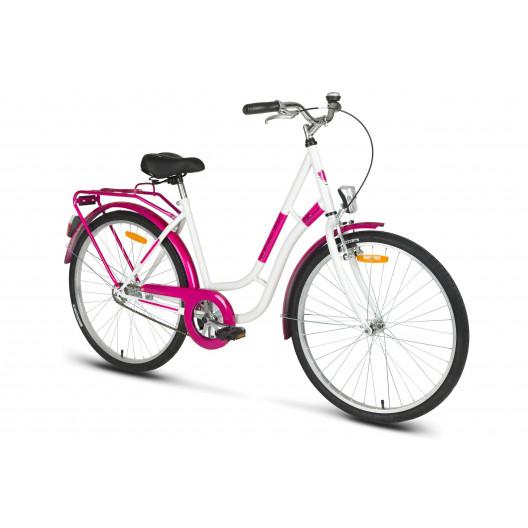 "Mestský Bicykel KANDS LAGUNA 26"" Jednoprevodový Bieloružový"