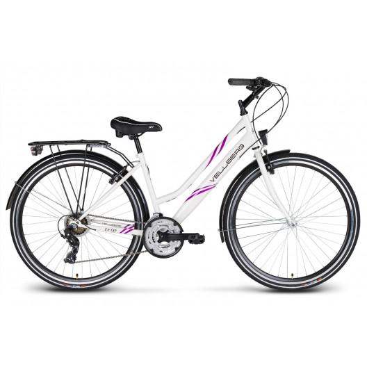 """Dámsky bicykel Vellberg TRIP D 19"""" bielo-fialový 2020"""