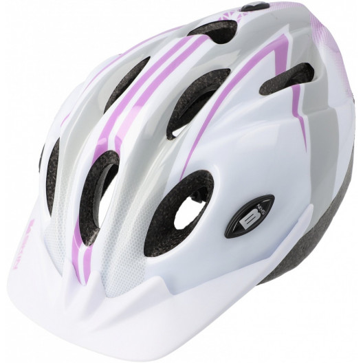 Prilba B-skin Tomcat M bielo-sivo-ružová