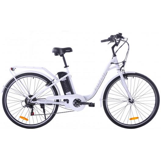 Elektrický bicykel Fuzlu 28 biela mestská labuť E-2