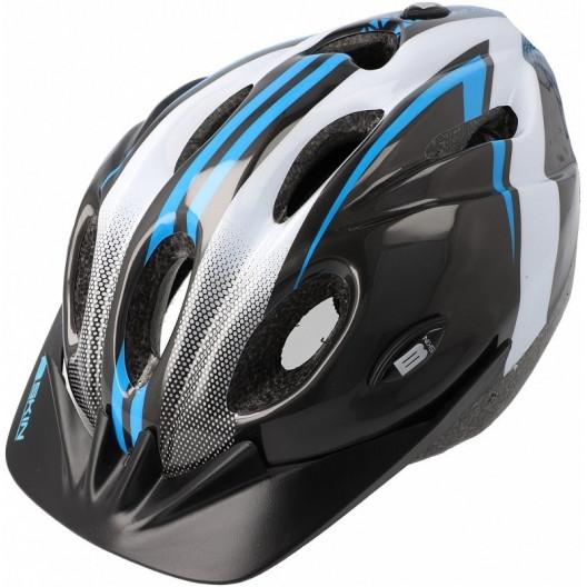 Prilba B-Skin Tomcat čierno-bielo-modrá S