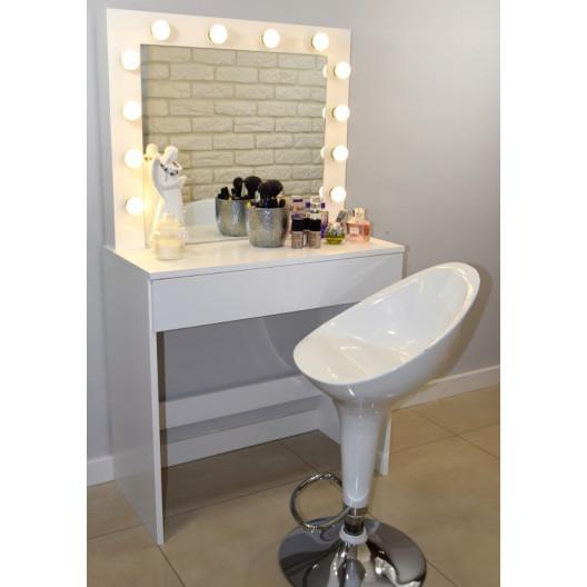 Toaletný stolík s osvetlením zrkadla HOLLYWOOD